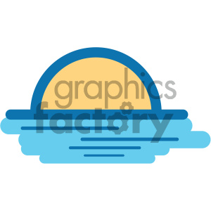 sunset ocean icon clipart. Commercial use icon # 405914