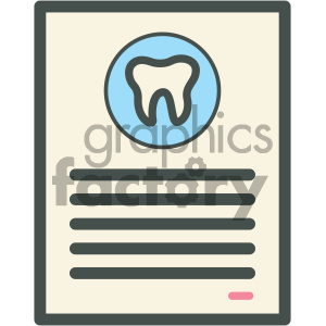 dental agreement vector flat icon designs clipart. Royalty-free image # 405939