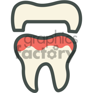 dental cap vector flat icon designs clipart. Royalty-free icon # 405978