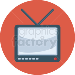 tv icon with red circle background clipart. Royalty-free image # 406034