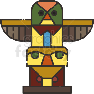 totem pole vector icon art clipart. Royalty-free image # 406109