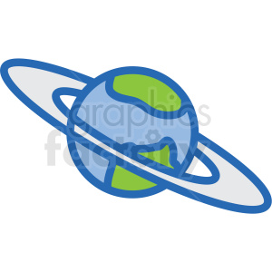 space icons earth planet