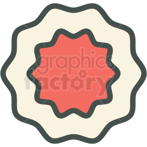badge vector icon clip art clipart. Royalty-free image # 406260