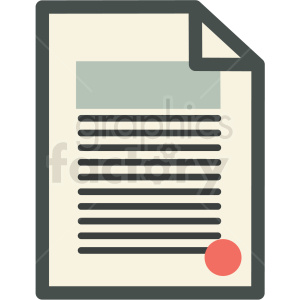 divorce decree contract icon clipart. Royalty-free image # 406292