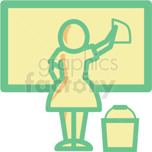 maid cleaning flat vector icon clipart. Commercial use image # 406323
