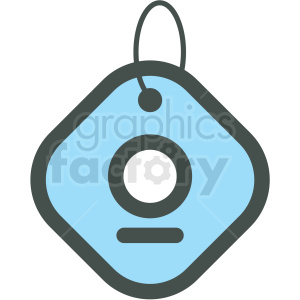 dog tag vector icon clipart. Commercial use image # 406387