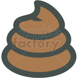 dog poo vector icon clipart. Royalty-free image # 406397