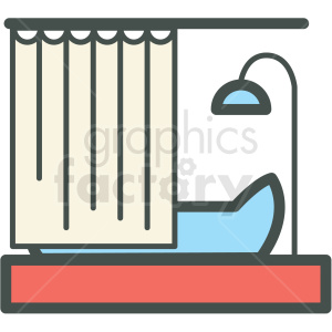 shower vector icon clipart. Royalty-free image # 406399