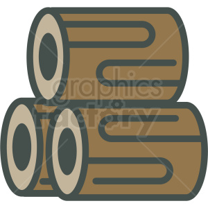stack of logs vector icon clipart. Royalty-free icon # 406423