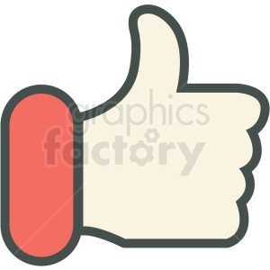 thumbs up love vector icon clipart. Commercial use image # 406455