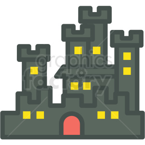 halloween haunted castle vector icon image clipart. Royalty-free image # 406536