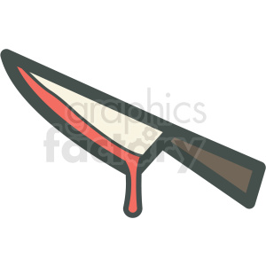 halloween bloody knife vector icon image clipart. Commercial use image # 406560