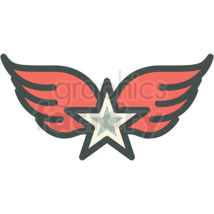 star with wings vector icon image clipart. Royalty-free icon # 406571
