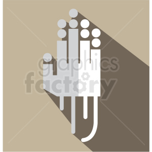 tracking gloves vector icon clip art clipart. Royalty-free image # 406611