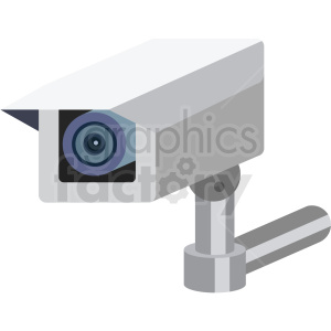 security camera vector flat icon clipart with no background clipart. Royalty-free image # 406681