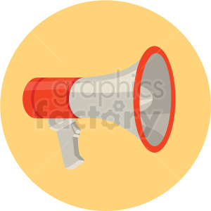 megaphone speaker vector flat icon clipart with circle background clipart. Royalty-free image # 406687