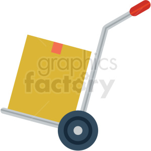 hand moving dolly vector flat icon clipart with no background clipart. Commercial use image # 406688
