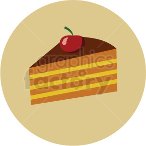 slice of cake vector flat icon clipart with circle background clipart. Royalty-free icon # 406702