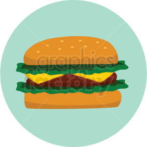 cheese burger icon clipart with circle background clipart. Royalty-free icon # 406710