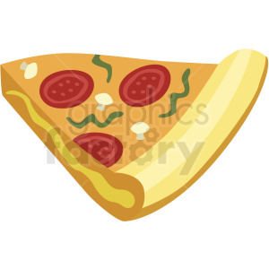 slice of pizza vector flat icon clipart with no background clipart. Commercial use image # 406717
