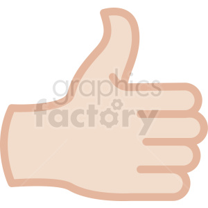 white thumbs up back of hand vector icon clipart. Commercial use image # 406783