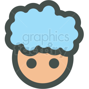 kid avatar with blue vector icons clipart. Royalty-free image # 406791