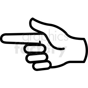 hand pointing gesture vector icon clipart. Commercial use image # 406803