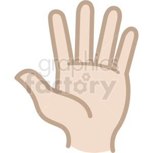 hello white hand vector icon clipart. Commercial use image # 406804