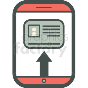 id kyc smart device vector icon clipart. Commercial use image # 406851