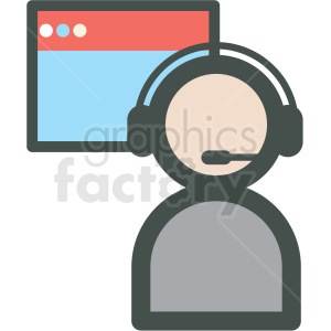 tech support web hosting vector icons clipart. Royalty-free image # 406857
