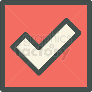 red box checkmark chat vector icon clipart. Commercial use image # 406865