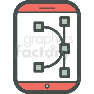 vector editing smart device vector icon clipart. Royalty-free icon # 406899