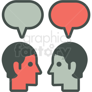 social media messaging vector icon clipart. Royalty-free image # 406903