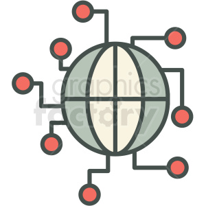 global infrastructure vector icon clipart. Royalty-free image # 406941