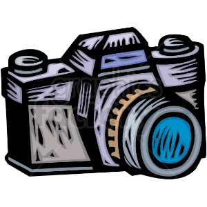 A Professional Photographers Camera clipart. Royalty-free image # 156333