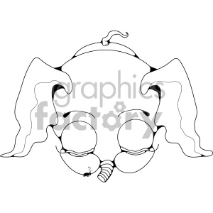 baby elephant sleeping clipart. Royalty-free image # 406984