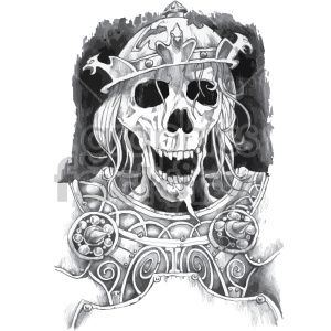 zombie skull illustration clipart. Royalty-free image # 407036