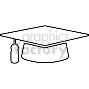 outlined graduation cap vector icon clipart. Commercial use image # 407074