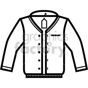 black+white technology icons jacket coat retail clothing