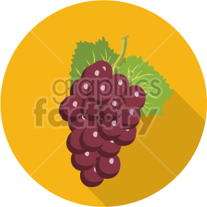 grapes on circle background flat icon clip art clipart. Royalty-free image # 407170
