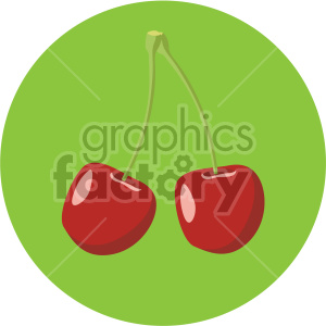 icons fruit cherry cherries food