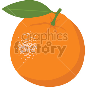 icons fruit food orange