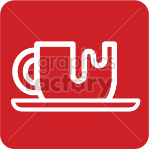 white coffee cup vector icon clipart. Commercial use image # 407248