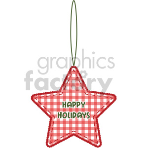 red star Christmas tree decoration clipart. Commercial use image # 407259