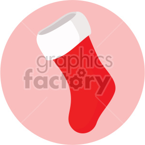 christmas stocking on pink circle background icon clipart. Royalty-free icon # 407294