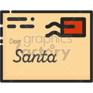 letter to santa christmas icon clipart. Commercial use image # 407313