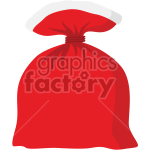 christmas icons santa bag sack