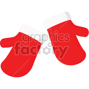 christmas icons mittens winter