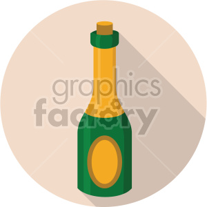 champagne bottle on beige background clipart. Commercial use image # 407390