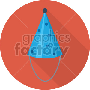party hat on red circle background clipart. Royalty-free image # 407414
